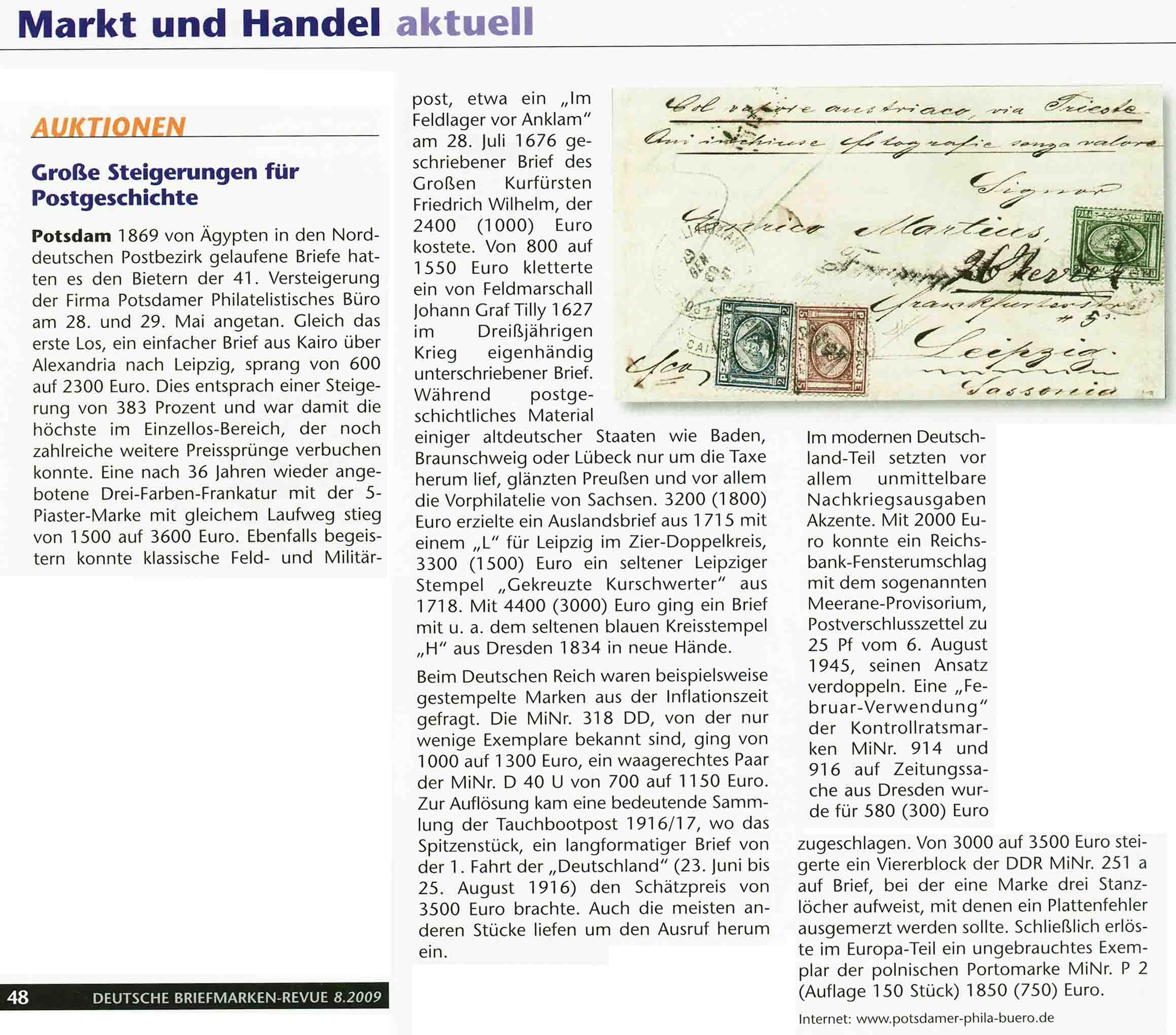 Potsdamer Philatelistisches Büro 48 Auktion